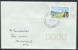 NORFOLK IS 1995 Cover To New Zealand - 27c Manned Flight...................42810 - Norfolk Island