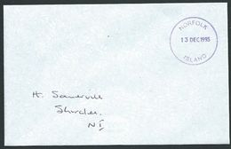 NORFOLK IS 1995 Local Cover Postage Paid In Cash - Violet Cds..............42785 - Norfolk Island