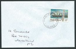 NORFOLK IS 1995 Cover To New Zealand - 33c Whaler Costa Rica...............42808 - Norfolk Island