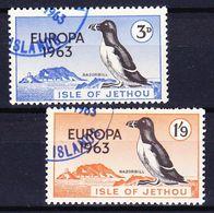 JETHOU (Emission Locale) - 1963 EUROPA SERIE Obl. BIRDS / OISEAUX - Emissions Locales