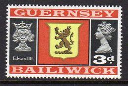 GUERNSEY - 1969 VIEWS DEFINITIVE 3d STAMP FINE MNH ** SG 17 - Guernsey