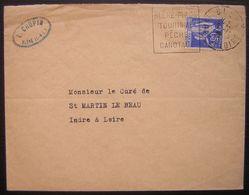 1938 Bléré (Indre Et Loire ) Lettre De L. Chupin Avec Daguin - Marcophilie (Lettres)