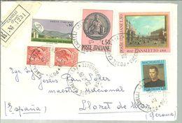 LETTER 1969  A ESPAÑA  GIRONA REGISTERED CANELLI - 6. 1946-.. Republic