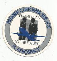 Autocollant , Diamètre 7 Cm ,aviation , FL AEROSPACE , Flight Plan To The Future ,premier Customer Service - Aufkleber