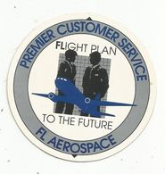 Autocollant , Diamètre 7 Cm ,aviation , FL AEROSPACE , Flight Plan To The Future ,premier Customer Service - Autocollants