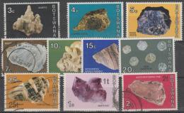 BOTSWANA - Few Used 1974 Minerals And Gemstones - Botswana (1966-...)