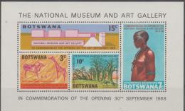 BOTSWANA - 1968 Museum Souvenir Sheet. Scott 46a. MNH - Botswana (1966-...)