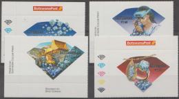 BOTSWANA - 2001 Diamonds. Scott 710-713. MNH - Botswana (1966-...)