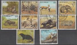 BOTSWANA - 1992-95 Several Used Animals From The Set - Botswana (1966-...)