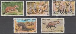 BOTSWANA - 1977 WWF Endangered Wildlife. Scott 182-186. MNH ** - Botswana (1966-...)