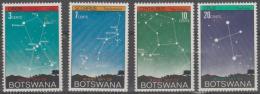 BOTSWANA - 1972 Night Sky - Galaxy. Scott 84-87. MNH - Botswana (1966-...)