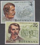 BOTSWANA - 1973 Livingstone. Scott 100-101. MNH - Botswana (1966-...)