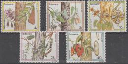 BOTSWANA - 1976 Christmas - Flowering Trees. Scott 174-178. MNH - Botswana (1966-...)