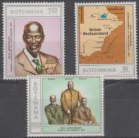 BOTSWANA - 1975 Establishment - Map. Scott 140-142. MNH - Botswana (1966-...)