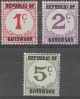 BOTSWANA - 1967 Postage Dues. Scott J1-3. MNH - Botswana (1966-...)