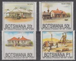 BOTSWANA - 1997 Francistown Centenary - Trains, Mining. Scott 616-619. MNH - Botswana (1966-...)