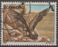 BOTSWANA - 1982 1p Bird - Vulture. Scott 319. Used - Botswana (1966-...)