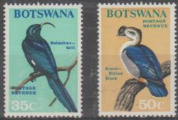 BOTSWANA - 1967 35c, 50c Birds. Scott 29, 30. MNH - Botswana (1966-...)