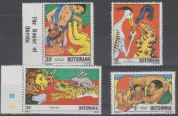BOTSWANA - 1980 Folktales. Scott 253-256. MNH - Botswana (1966-...)