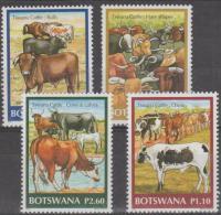 BOTSWANA - 2006 Cattle. Scott 818-821. MNH - Botswana (1966-...)