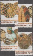 BOTSWANA - 2001 Basketry. Scott 718-=721. MNH - Botswana (1966-...)