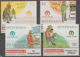 BOTSWANA - 2000 Literacy. Scott 693-696. MNH - Botswana (1966-...)