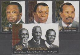 BOTSWANA - 2000 Kings And Presidents. Scott 697-700. MNH - Botswana (1966-...)
