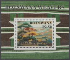 BOTSWANA - 1998 Textiles Souvenir Sheet. Scott 668. MNH - Botswana (1966-...)