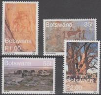 BOTSWANA - 1999 Tourism - Rock Paintings. Scott 673-676. MNH - Botswana (1966-...)