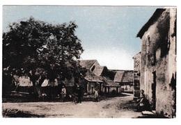 Jolie CPA Coul. Animée Thomirey (Ecutigny, Côte-d'Or), Centre Du Village - Autres Communes