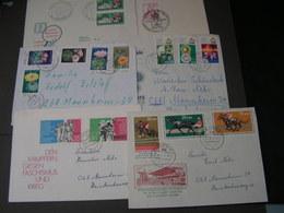 DDR 6 Briefe - Briefmarken