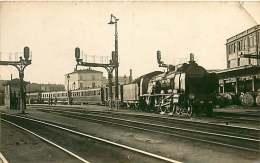 110418 - GARE TRAIN à Localiser - Chemin De Fer Train Locomotive - Stations With Trains