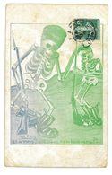 CPA DESSIN LA PAIX ET A NOUS QUI NOUS REMBOURSERA ? Squelette Mort Caricature Politique Satirique - Illustratori & Fotografie