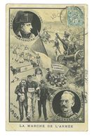 CPA DESSIN LA MARCHE DE L'ARMEE NAPOLEON 1805 A VAUCRESSON 1904 Caricature Politique Satirique - Autres Illustrateurs