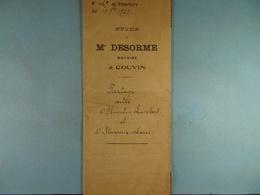 Acte Notarié 1923 Partage Entre Lambert De Cul-des-Sarts Et Stavaux - Laïes De Cul-des-Sarts /012/ - Manuscrits