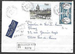 FRANCE 1994 Et PA 46 Sur Lettre Recommandée Pour La Martinique . - Covers & Documents