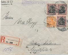 FRANKFURT - 3.4.21 , Teil Eines R-Briefes - Briefe U. Dokumente