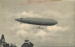 DIRIGEABLE ADJUDANT VINCENOT MANOEUVRES ARMEE 1913 - Dirigeables