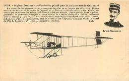 BIPLAN SOMMER PILOTE PAR LE LIEUTENANT DE CAUMONT - ....-1914: Precursors
