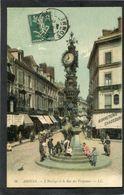 CPA - AMIENS - L'Horloge Et La Rue Des Vergeaux, Animé - Amiens