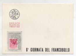 Italia - Trento - 1964 - Società Filatelica Trentina - 6^ Giornata Del Francobollo - Viaggiata (FDC9160) - Manifestazioni