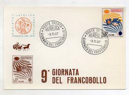 Italia - Trento - 1967 - Società Filatelica Trentina - 9^ Giornata Del Francobollo - Con Doppio Annullo - (FDC9161) - Manifestazioni