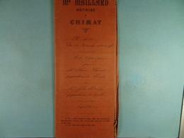 Acte Notarié 1909 Vente Par Plancade De Chimay à Hardy De Virelles /014/ - Manuscrits