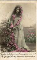 CPA Je Sème Le Bonheur Avec L'encens Des Roses Respirez-le Bientôt Vous Saurez Douces Choses - Donne