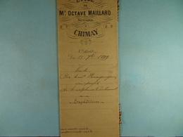 Acte Notarié 1899 Vente De Baudart Bourguignon De Bourlers à Coulonval De Baileux  /015/ - Manuscrits