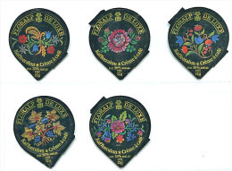 78 - De Luxe - Serie Complete De 5 Opercules Suisse Floralp - Opercules De Lait