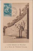 France Carte Maximum Année 1939 Infanterie Francaise 387 - Maximum Cards