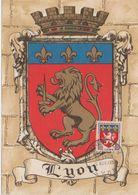 France Carte Maximum Année 1958 Blason De Lyon 1181 - 1950-59