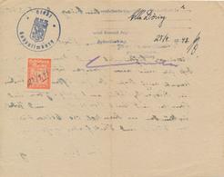 HOHENLIMBURG - 27.9.1948 , Gebührenmarke 0,50 DM Des Ordnungsamtes - Gebührenstempel, Impoststempel