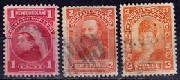 TERRE NEUVE - NEWFOUNDLAND - CANADA - 1897 - N° 64 à 68 Oblitéré - COLONIE BRITANNIQUE - Terre-Neuve